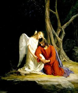 Angel Comforts Jesus by Carl Bloch
